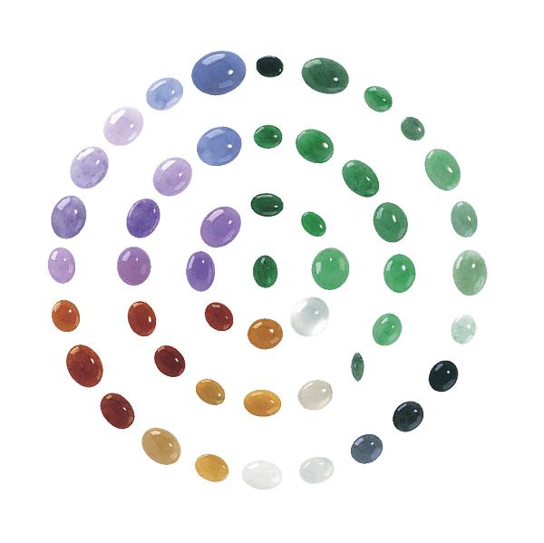 Các màu sắc khác nhau của đá cẩm thạch