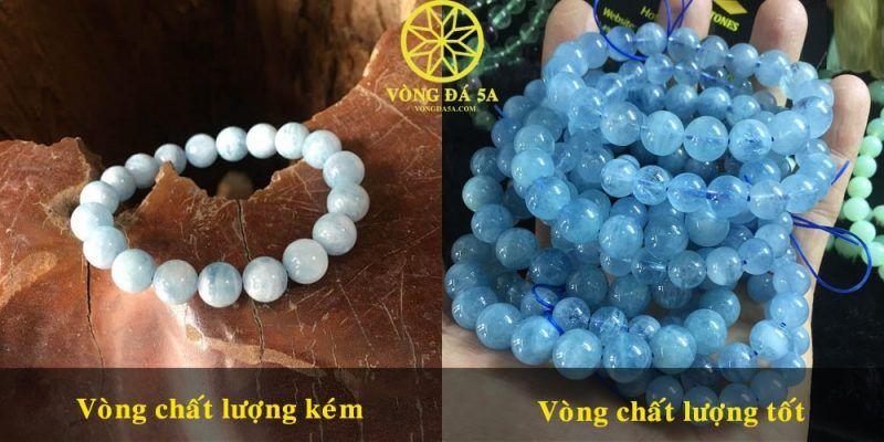 Chất lượng vòng đá aquamarine