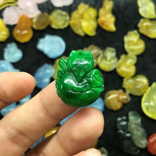 Hồ ly đá cẩm thạch tự nhiên (Natural Jadeite)