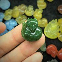 Hồ ly ngọc bích tự nhiên (Natural Nephrite Jade)