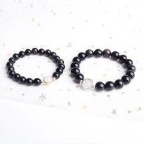 Vòng tay đôi đá obsidian