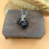Túi tiền đá Thạch anh đen Morion tự nhiên - Thu hút tiền tài