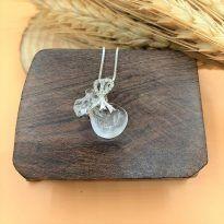 Túi tiền đá Thạch anh trắng (Clear Quartz)- Thu hút tiền tài