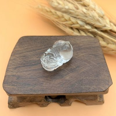 Tỳ hưu đá thạch anh trắng tự nhiên (Natural Clear Quartz) - Mệnh Kim và mệnh Thủy