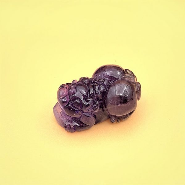 Tỳ hưu đá thạch anh tím (Amethyst) tự nhiên - Hút tài lộc cho mệnh Hỏa và Thổ
