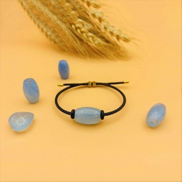 Vòng tay lu thống Aquamarine tự nhiên cho nữ