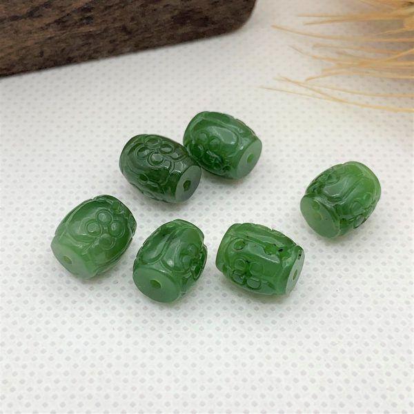 Lu thống ngọc bích (nephrite jade) tự nhiên - Mẫu tròn LTNB03